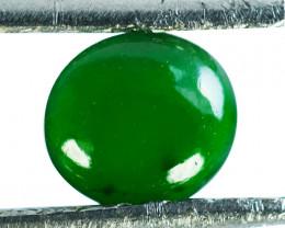 ~UNTREATED~ 0.73 Cts Natural Jade Cabochon Vivid Green Burmese