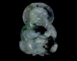 24.8g (124ct) Jade Buddha Carving