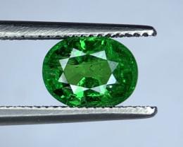1.38 Carats vivid Green Natural Tsavorite Gemstone