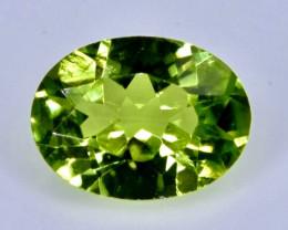 1.32 Crt Natural  Peridot Faceted Gemstone.( AB 34)