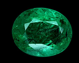 2.29CT NATURAL EMERALD ZAMBIA IGCZE01