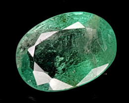 1.84CT NATURAL EMERALD ZAMBIA IGCZE06