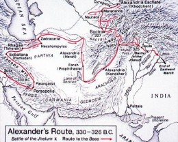 ALEXANDER THE GREAT TRAVELS THRU THIS AREA IN 330 BC AND THIS AREA IS NEAR WHERE THIS GLASS WAS FOUND