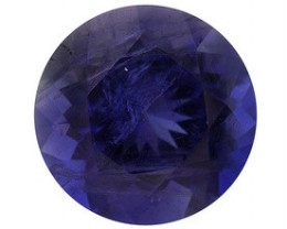 IOLITE .80 CARAT WEIGHT ROUND CUT GEMSTONE WATER SAPPHIRE NR
