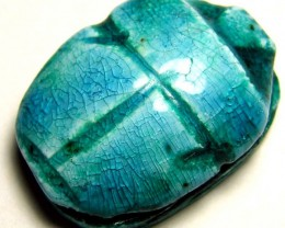EGYPTIAN SCARAB BEETLE  DRILLED BEAD 74.70 CTS  LT-243