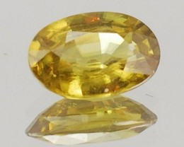 SPHENE .55 CARAT WEIGHT OVAL CUT COLLECTORS GEMSTONE NR BIN