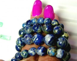 158 CTS LAPIS BEADS DRILLED  NATURAL  NP-111