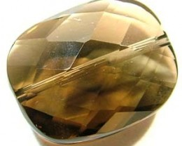SMOKY QUARTZ FACETED DRILLED 20.85 CTS NP-1201