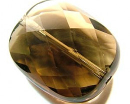 SMOKY QUARTZ FACETED DRILLED 20.75 CTS NP-1205