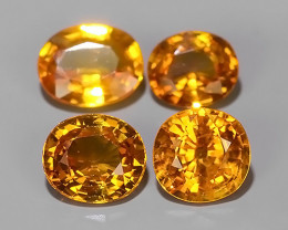 2.35 CTS~AWESOME NICE ORANGEISH-YELLOW SAPPHIRE FACET GENUINE~