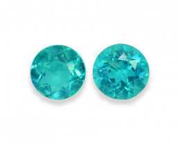 1.61 Cts Stunning Lustrous Paraiba Color Round Apatite