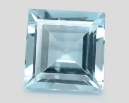 1.29 Cts Un Heated Blue  Natural Aquamarine Loose Gemstone