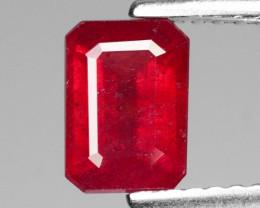 1.48 Cts Pinkish Red Natural Ruby BURMA  Loose Gemstone
