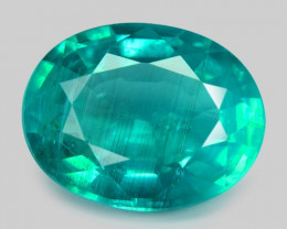 3.41 Cts Un Heated Natural Neon Green Apatite Loose Gemstone