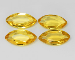 6.10 Cts 4 Pcs Fancy Golden Yellow Color Natural Citrine Gemstone