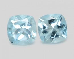 1.82 Cts 3 Pcs Un Heated Blue  Natural Aquamarine Loose Gemstone
