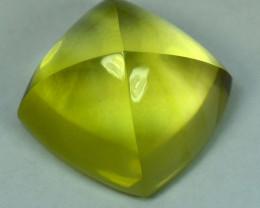 25.31Cts Natural Prasiolite Lemon Green Sugar Loaf 17mm