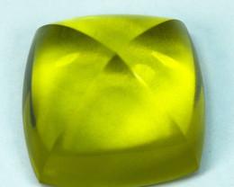 25.61Cts Natural Prasiolite Lemon Green Sugar Loaf 17.50mm
