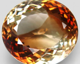20.59 ct. 100% Natural Earth Mined Topaz Orangey Brown Brazil