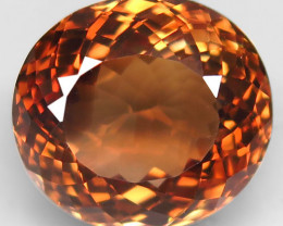 19.52 ct. 100% Natural Earth Mined Topaz Orangey Brown Brazil