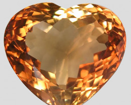 19.00 ct. 100% Natural Earth Mined Topaz Orangey Brown Brazil