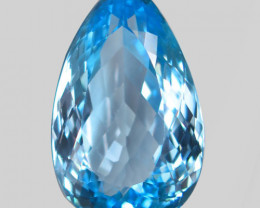 27.06 ct. 100% Natural Earth Mined Top Quality Blue Topaz Brazil