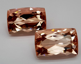 23.05CT MORGANITE PAIR GEMSTONES IGCPIR04