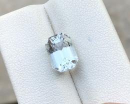 HGTL CERTIFIED 3.03 Ct Natural Blueish Transparent Aquamarine Gemstone