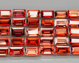 10.74 ct. 5x3 mm Natural Red Rhodolite Garnet Africa - 30  Pcs