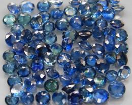 4.35  ct. 2.0 - 2.5  MM. DIAMOND CUT BLUE COLOR SAPPHIRE NATURAL GEMSTONE 5