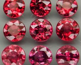 9.45 ct.  5.5 mm Natural Earth Mined Cherry Pink Rhodolite Garnet Africa -