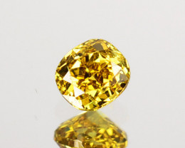 0.12 Cts Natural Untreated Diamond Fancy Yellow Cushion Cut Africa
