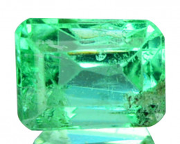 Natural Vivid Green Emerald Baguette Cut Colombia 0.35 Cts