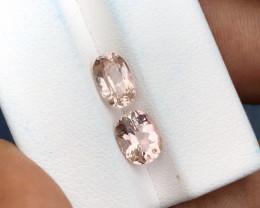 2.90 Ct Natural Light Pink Transparent Tourmaline Gems Parcels