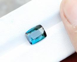 2.40 Ct Natural Blueish Green Transparent Tourmaline Ring Size Gemstone