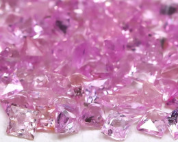2.75Ct 143Pcs Natural Princess Unheated Pink Sapphire C0603