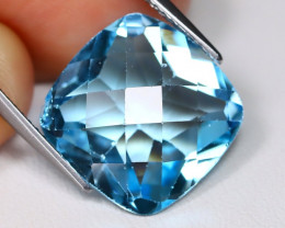 Swiss Blue Topaz 11.57Ct Cushion Cut Natural Swiss Blue Topaz C0605