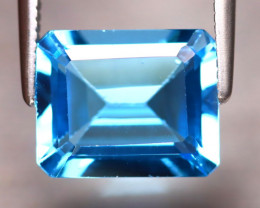 Swiss Topaz 3.50Ct Natural VVS Swiss Blue Topaz DF0522/A48