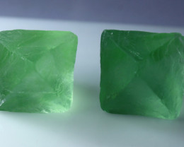 194.80 CT Natural - Unheated Green Fluorite Crystal Lot