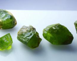 130.80 CTs Natural - Unheated Green Peridot Rough Lot