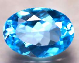 Swiss Topaz 6.00Ct Natural VVS Swiss Blue Topaz E0602/A48