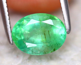 Emerald 1.13Ct Natural Zambia Green Emerald EF0619/A38