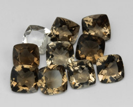 5.09 CTS 10 Pcs Fancy Champagne Color Smoky Quartz Natural Gemstones