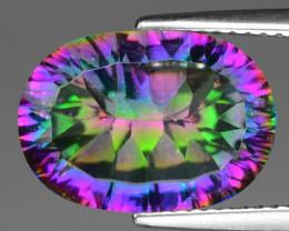 5.60 Cts Rare Fancy Multi Color Natural Mystic Quartz