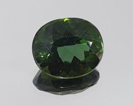 Beautiful Green Tourmaline Verdelite  Faceted Oval Cut 8.3x7mm 1.9ct(SKU 91