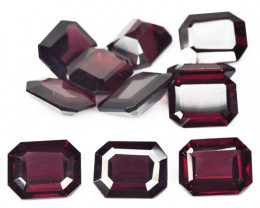 *No Reserve* Rhodolite 38.37 Cts 11 Pcs Unheated Natural Cherry Pinkish Red
