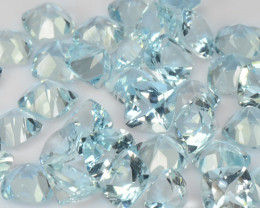 36.77 Cts 43 Pcs Un Heated  Santa Maria Blue  Natural Aquamarine Loose Gems