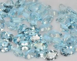 21.19 Cts 52 Pcs Un Heated  6X4MM Santa Maria Blue  Natural Aquamarine Loos