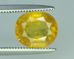 Top Clarity & Color 1.90 ct Rarest Yellow Sapphire~ Sri Lanka