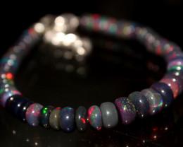 42 Crts Natural Ethiopian Welo Smoked Opal Bracelet 134